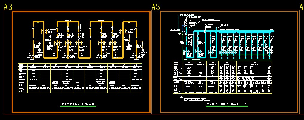 变电所电气主接线图,配电干线系统图