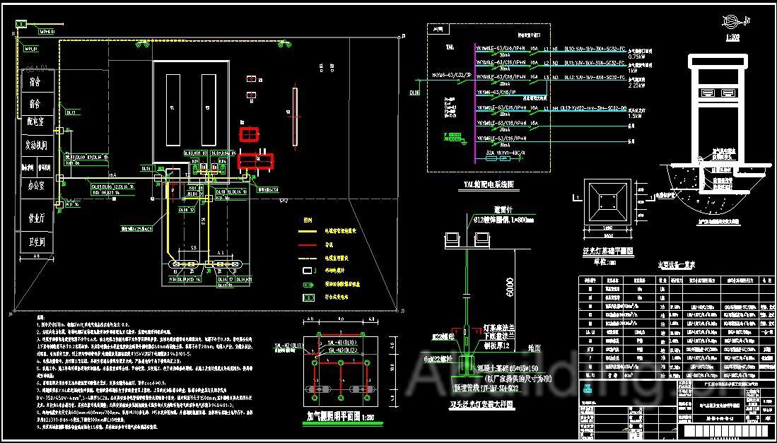 天然气站全套电气图纸(35张)-阿拉丁建筑电气网