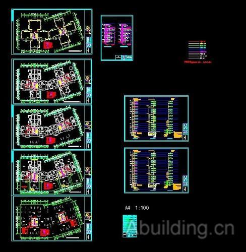 30层住宅楼弱电工程图纸
