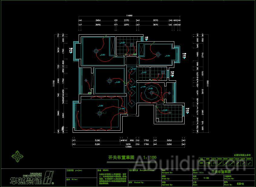 这是一份三室两厅的装修图纸,贵在比较全面,给水,强电,弱电都有