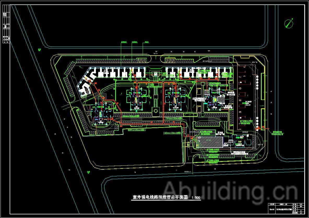 住宅建筑电路平面图