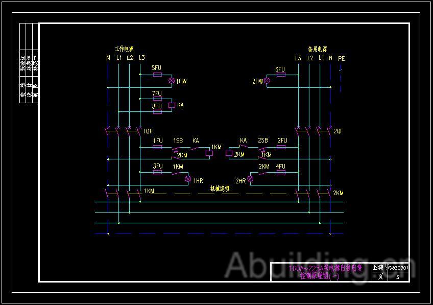 双速风机控制原理图;单台排水泵水位控制原理图;两台