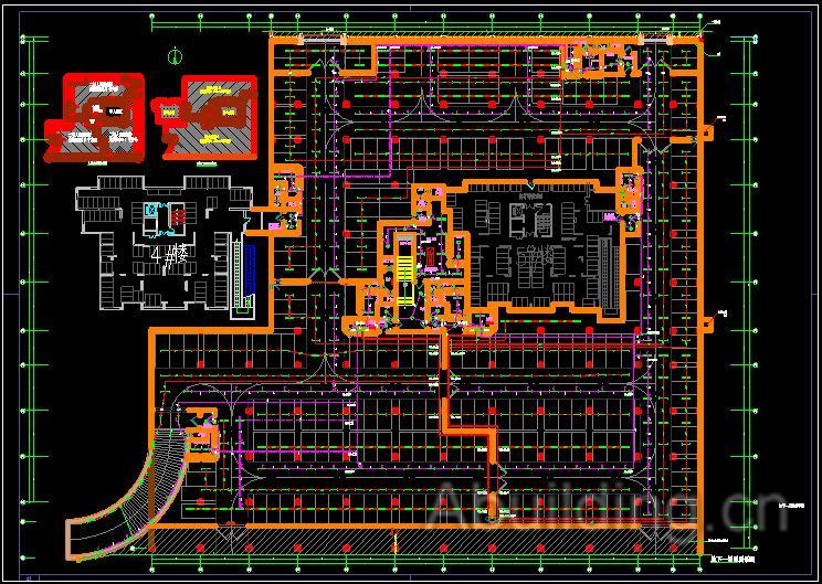 1.本工程位于吴江市,总建筑平面为6475平方米,平时为地下I类汽车库,战时为核6级常6级二等甲类人员掩蔽所;